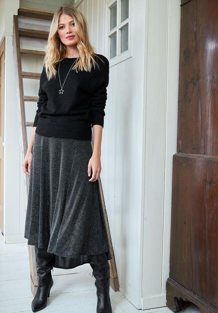 Freya Glitter Midi Skirt