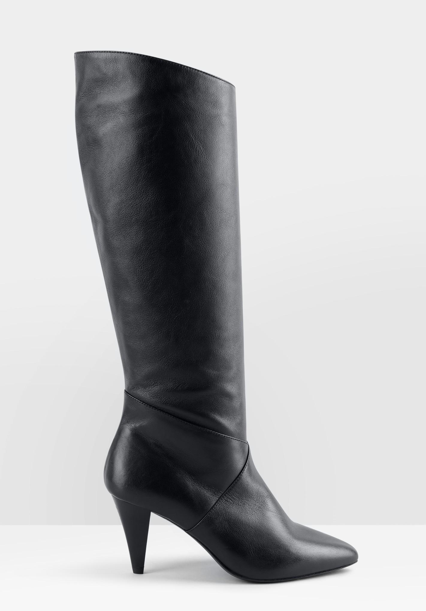 hush black milford knee-high boots black