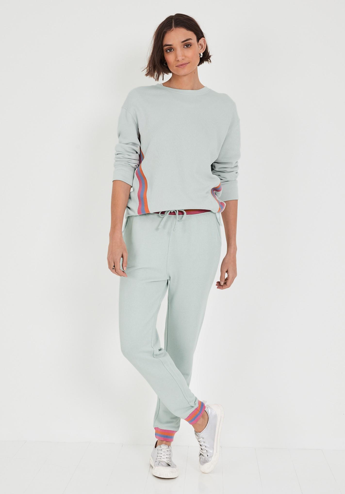 hush palest-blue-multi cetti striped rib joggers grey/multi