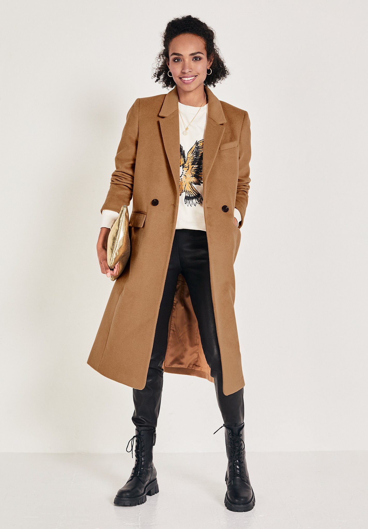 hush brown the perfect crombie camel