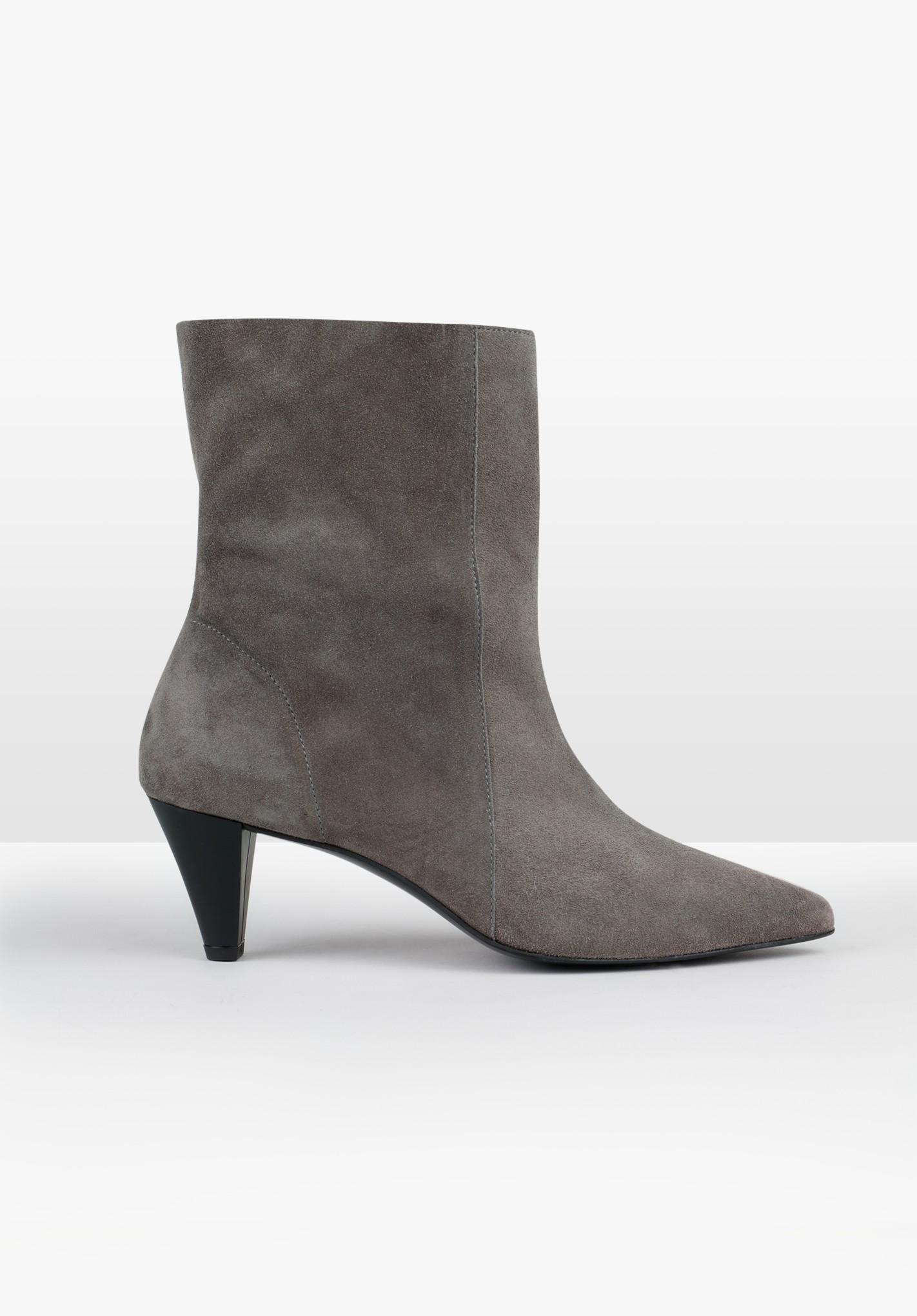 hush grey hesper suede boots grey