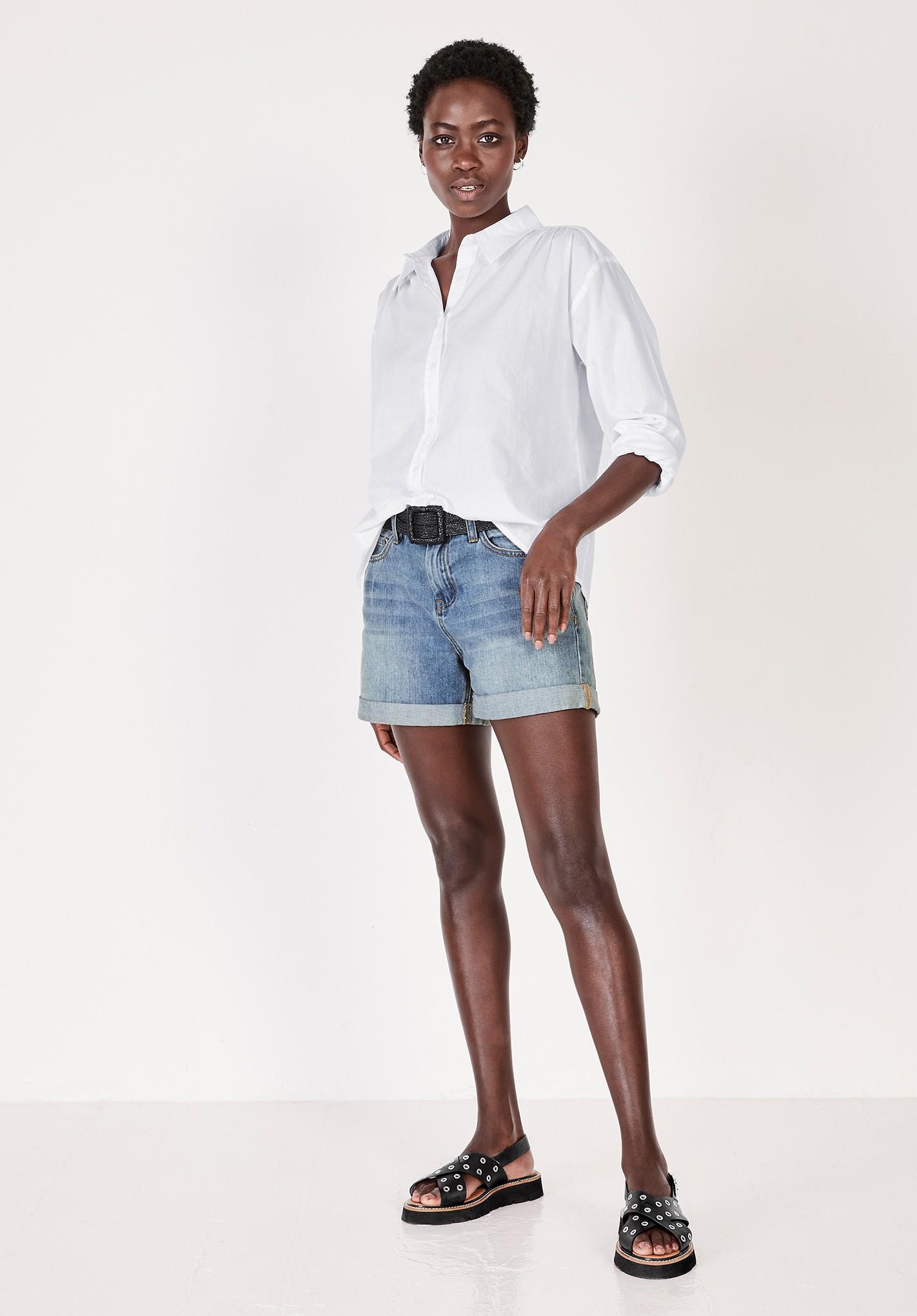 hush white letitia long sleeve shirt white