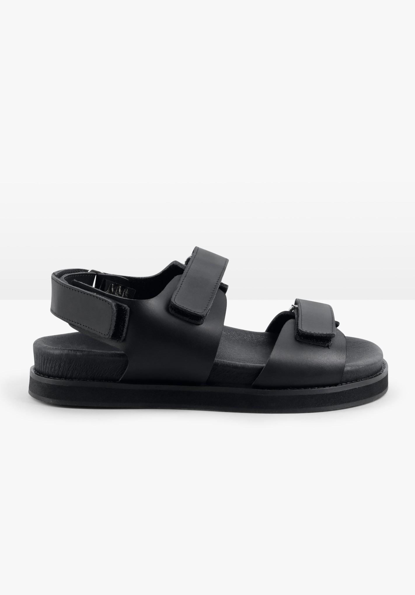 hush black doby chunky sandals black